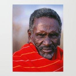 African Maasai Elder Poster