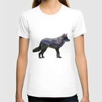 gray T-shirts featuring The Rocky Mountain Gray Wolf by Davies Babies