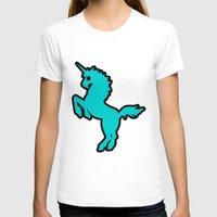 punk rock T-shirts featuring Punk rock unicorn by junaputra