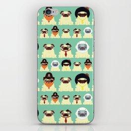 Pug pattern iPhone Skin