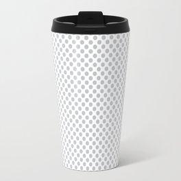 Glacier Gray Polka Dots Travel Mug