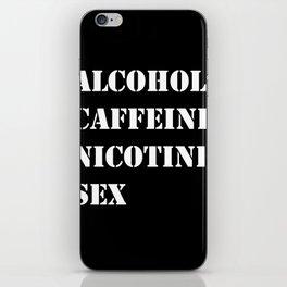 A C N S black iPhone Skin
