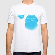 The Tip Of The Iceberg SMALL Mens Fitted Tee Ash Grey