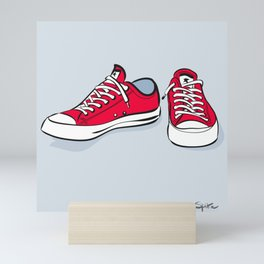 Red Sneakers Mini Art Print