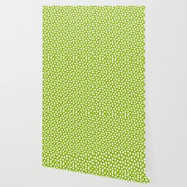 White Polka Dots on Fresh Spring Green - Mix & Match with Simplicty of life Wallpaper