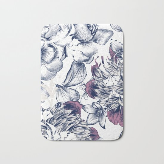 Flowers pattern 2 Bath Mat