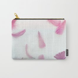 Cotton Candy and Pink Lavender Feathers Carry-All Pouch