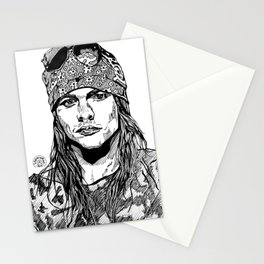 Axel Rose Portrait Stationery Cards