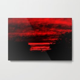 Sunset in Red Metal Print