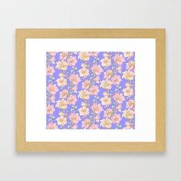 tropical pastels Framed Art Print