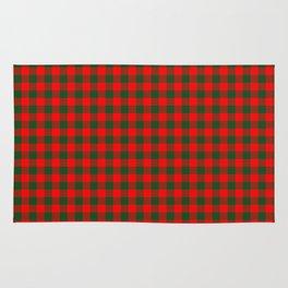 Medium Holly Red and Balsam Green Christmas Country Cabin Buffalo Check Rug