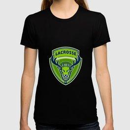 Deer Buck Stag Lacrosse Crest T-shirt