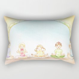 Children Meditation Rectangular Pillow