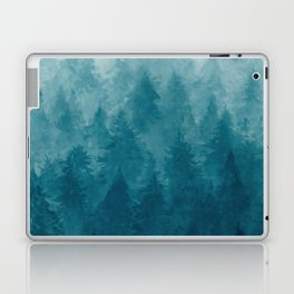 Misty Pine Forest Laptop & iPad Skin