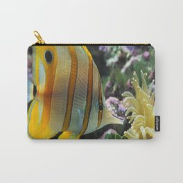 Yellow Longnose Butterfly Fish Carry-All Pouch