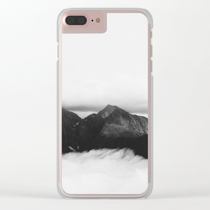 mountain (black and white) Clear iPhone Case