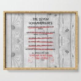 The Seven Commandments - Animal Farm Serving Tray