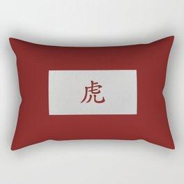 Chinese zodiac sign Tiger red Rectangular Pillow