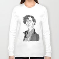 benedict cumberbatch Long Sleeve T-shirts featuring Benedict Cumberbatch - Sherlock by Andy Christofi