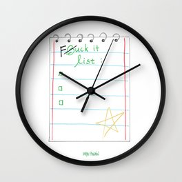Fuck It List Wall Clock