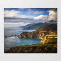 big sur Canvas Prints featuring Big Sur by Arlene Carley