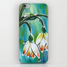 Drips on droopy flowers iPhone Skin
