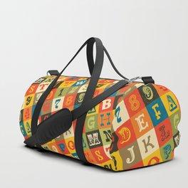 VINTAGE ALPHABET Duffle Bag