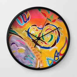 Multi colour lines Wall Clock