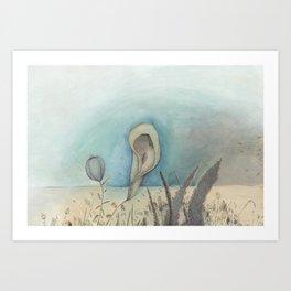 Beach Plants, 2018 Art Print