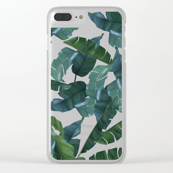 Banana Leaf Decor Society6 Art Clear Iphone Case By 83oranges