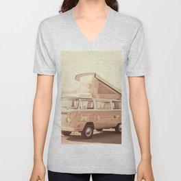 Vintage Van (Color) Unisex V-Neck