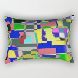 Raw Paint 3 - Colour Abstract Rectangular Pillow