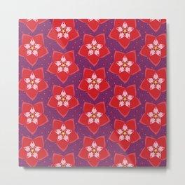 Hoya Red Metal Print