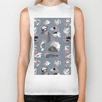 mineral Biker Tanks featuring Mineral Rocks  by jessicasammondesign