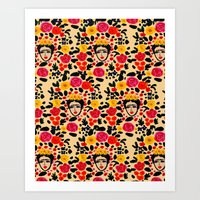 frida Art Prints featuring Frida by Bouffants and Broken Hearts