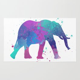 Elephant Watercolor I Rug
