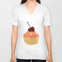 candy V-neck T-shirts featuring Candy!! by Stag Prints