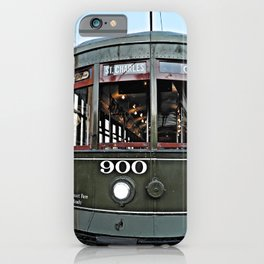 New Orleans St. Charles green streetcar iPhone Case