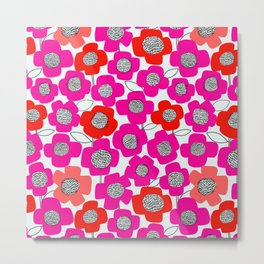 PopUP FlowerStem_MultiWarm Metal Print