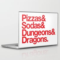 dungeons and dragons Laptop & iPad Skins featuring Dungeons & Dragons & Swag by Tuff Industries