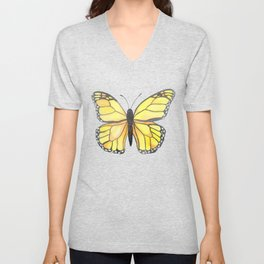 Monarch Butterfly - Yellow Unisex V-Neck