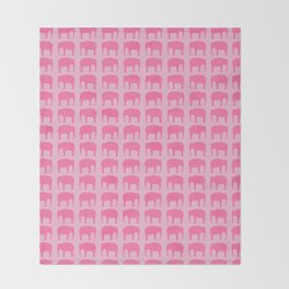 Pink Elephant(s) Throw Blanket