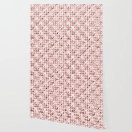 XOXO Kiss Me Rose Gold Pattern Wallpaper