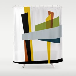 Mid Century Composition 3 Shower Curtain