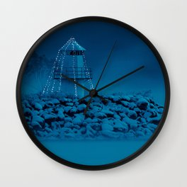 Pier and lighthouse Wall Clock
