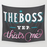 boss Wall Tapestries featuring The Boss. by Maria Bruggeman
