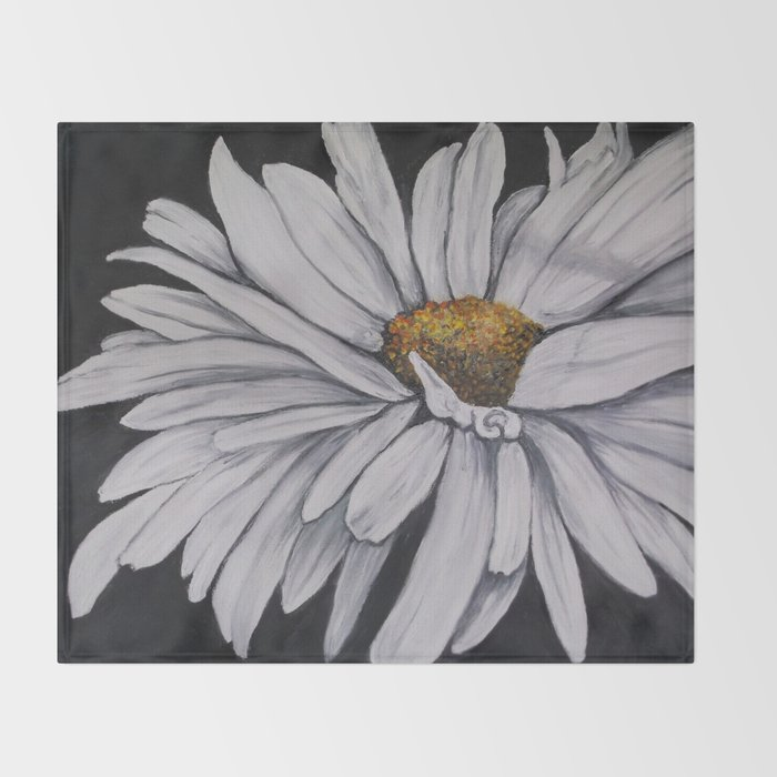 Pollari Shasta Daisy Throw Blanket