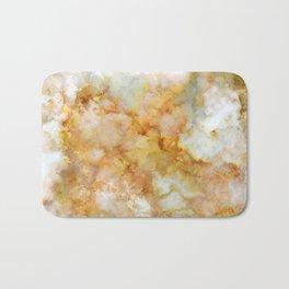 Gold Rippled Marble Bath Mat