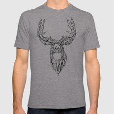 El Camino del Venado  Tri-Grey Mens Fitted Tee LARGE