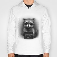 rocket raccoon Hoodies featuring Raccoon Mugshot by Company of Wolves